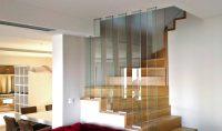 Escalier en chêne et verre